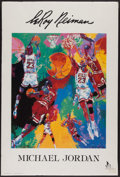 Basketball Collectibles:Others, 1991 Michael Jordan LeRoy Neiman Print....