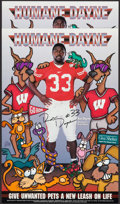 Football Collectibles:Photos, Ron Dayne Signed Posters Lot of 2....