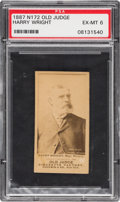 Baseball Cards:Singles (Pre-1930), 1887 N172 Old Judge Harry Wright, Phila's, Portrait/Looking Right(#510-1a) PSA EX-MT 6....