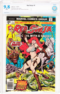 Red Sonja #1 (Marvel, 1977) CBCS NM/MT 9.8 White pages