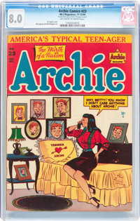 Archie Comics #23 (Archie, 1946) CGC VF 8.0 Off-white to white pages