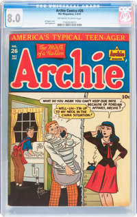 Archie Comics #26 (Archie, 1947) CGC VF 8.0 Off-white to white pages