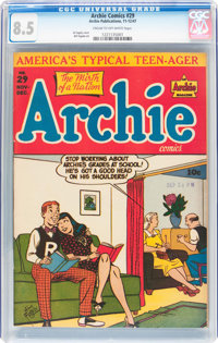Archie Comics #29 (Archie, 1947) CGC VF+ 8.5 Cream to off-white pages