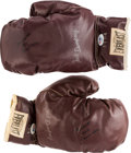 Boxing Collectibles:Memorabilia, 1980's Muhammad Ali Signed Vintage Boxing Gloves....