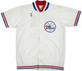 Basketball Collectibles:Others, 1987-88 Philadelphia 76ers Game Worn Warmup Uniform. ...