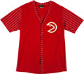 Basketball Collectibles:Uniforms, 1972-74 Steve Bracey Game Worn Atlanta Hawks Shooting Jacket. ...