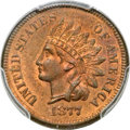 Indian Cents, 1877 1C MS64 Red and Brown PCGS. CAC....