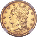 Early Quarter Eagles, 1832 $2 1/2 BD-1, R.4 -- Improperly Cleaned -- NGC Details. Unc....