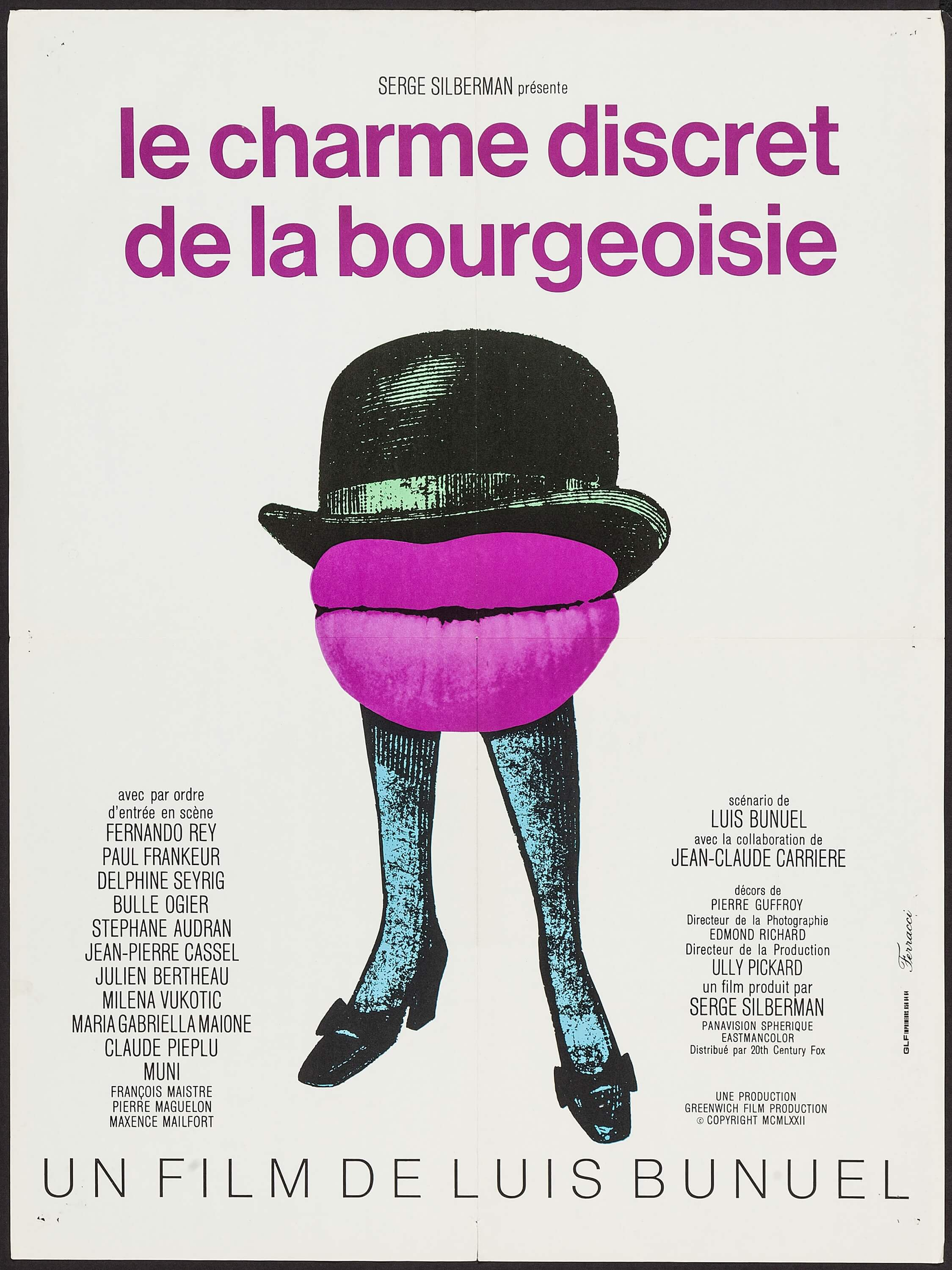 Le Charme Discret De La Bourgeoisie Lobby Card Movie Poster