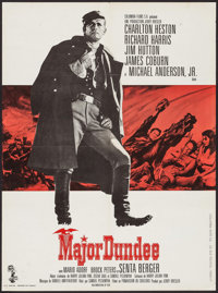 "Major Dundee & Other Lot (Columbia, 1965). French Affiche (22.25"" X 30"") & Belgian (13.25"" X 12.7..."
