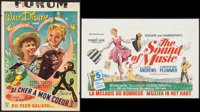 "The Sound of Music & Others Lot (20th Century Fox, R-1975). Belgian (14"" X 22""), Trimmed Belgian (14""..."