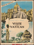 """Movie Posters:Documentary, Visit the Vatican (Columbia, 1950s). French Affiche (23.5"""" X 31.25""""). Documentary.. ..."""