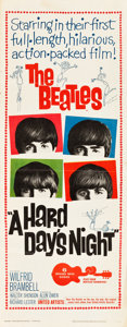 "Movie Posters:Rock and Roll, A Hard Day's Night (United Artists, 1964). Insert (14"" X 36"").. ..."