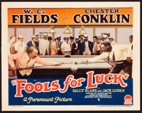 "Fools For Luck (Paramount, 1928). Title Lobby Card (11"" X 14"")"