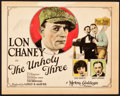 "Movie Posters:Crime, The Unholy Three (MGM, 1925). Title Lobby Card (11"" X 14"").. ..."
