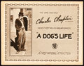 "Movie Posters:Comedy, A Dog's Life (First National, 1918). Title Lobby Card (11"" X 14"")....."