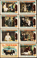 "Movie Posters:Mystery, The Terror (Warner Brothers, 1928). Lobby Card Set of 8 (11"" X14"").. ... (Total: 8 Items)"