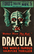 "Movie Posters:Horror, Dracula (Theatre Production, 1928). Window Card (14"" X 22"").. ..."