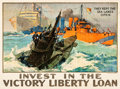 "Movie Posters:War, World War I Propaganda (1917-1919). Poster (29"" X 39""). ""Invest in the Victory Liberty Loan. They Kept The Sea Lanes Open.""..."