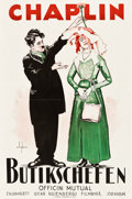 "Movie Posters:Comedy, The Floorwalker (Mutual, R-1925). Swedish One Sheet (23"" X 35""). Comedy.. ..."