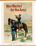 "Movie Posters:War, U.S. Army Calvary (c. 1910). Recruiting Poster (29.5 X 40"") ""MenWanted for the Army."". ..."