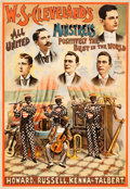 "Movie Posters:Miscellaneous, W.S. Cleveland's Minstrels Show (Courier Litho, Buffalo, NY,1890s). Poster (27.5"" X 39.5"").. ..."