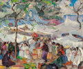 Fine Art - Painting, American:Modern  (1900 1949)  , Irma René Koen (American, 1884-1975). Entrance to theMarket. Oil on canvas. 20 x 24 inches (50.8 x 61 cm). Signedlower...