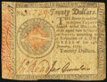 Colonial Notes:Continental Congress Issues, Continental Currency January 14, 1779 $20 Fine.. ...