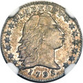 Early Half Dimes, 1795 H10C V-3, LM-4, R.6, MS64 NGC....