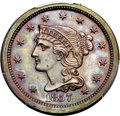 Proof Large Cents, 1857 1C Small Date, N-5, R.5, PR65 Red and Brown PCGS. CAC....