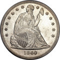 Seated Dollars, 1860 $1 MS65 PCGS. CAC....