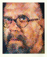 Chuck Close (b. 1940) Self-Portrait, 2000 Screenprint in colors on Saunders Waterford paper 58-1/