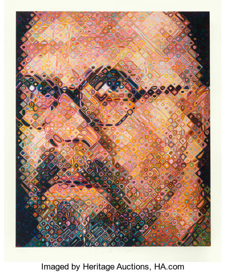 Chuck Close (b. 1940) Self-Portrait, 2000 Screenprint in colors on Saunders Waterford paper 58-1/4 x 48 inches (148 x...