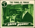 "Movie Posters:Serial, The Green Hornet (Universal, 1940). Lobby Card (11"" X 14"") Chapter 1 -- ""The Tunnel of Terror."". ..."