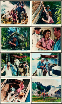 """The African Queen (Romulus, 1952). Color British Front of House Photos (8) (8"""" X 10""""). ... (Total: 8 Items)"""