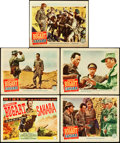 "Movie Posters:War, Sahara (Columbia, 1943). Title Lobby Card and Lobby Cards (4) (11""X 14"").. ... (Total: 5 Items)"