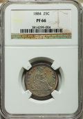 Proof Seated Quarters, 1884 25C PR66 NGC. Briggs 2-B....