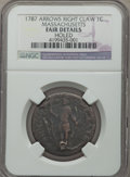 Colonials, 1787 CENT Massachusetts Cent, Arrows in Right Talon -- Holed -- NGC Details. Fair. Ryder 2a-F, W-6070, High R.6....