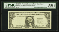Fr. 1914-D $1 1988 Federal Reserve Note. PMG Choice About Unc 58 EPQ