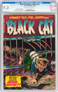 Golden Age (1938-1955):Horror, Black Cat Mystery #52 (Harvey, 1954) CGC VF/NM 9.0 Cream tooff-white pages....