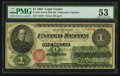 Fr. 16c $1 1862 Legal Tender PMG About Uncirculated 53