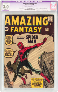 Amazing Fantasy #15 (Marvel, 1962) CGC Apparent GD/VG 3.0 Slight (A) Off-white to white pages