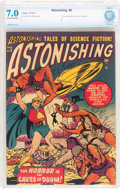 Golden Age (1938-1955):Science Fiction, Astonishing #5 (Atlas, 1951) CBCS FN/VF 7.0 Off-white to white pages....