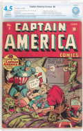 Golden Age (1938-1955):Superhero, Captain America Comics #4 (Timely, 1941) CBCS Restored (Slight/Moderate) VG+ 4.5 Off-white pages....