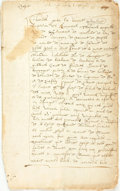 Books:Manuscripts, Holographic 1666 French Manuscript Copy of 1551 Document. Circa 1666....