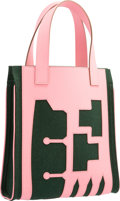 Luxury Accessories:Bags, Hermes Petit H Collection Rose Confetti Epsom Leather & Malachite Feutre Wool Skeleton Tote Bag. T, 2015. Pristine Con...