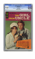 Silver Age (1956-1969):Adventure, The Girl From U.N.C.L.E. #1 File Copy (Gold Key, 1967) CGC VF/NM 9.0 Off-white pages. Stephanie Powers front and back photo ...