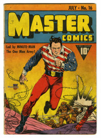 Master Comics #16 (Fawcett, 1941) Condition: VG-. Cover by Charles Sultan. Art by Sultan, George Tuska, and Mac Raboy. O...