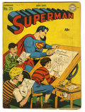 Golden Age (1938-1955):Superhero, Superman #25 (DC, 1943) Condition: VG. Clark Kent's only military service. Fred Ray's only super-hero story. Cover by Jack B...