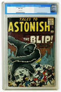 Silver Age (1956-1969):Mystery, Tales to Astonish #15 (Marvel, 1961) CGC VG+ 4.5 Off-white pages.Electro prototype featured. Jack Kirby and Steve Ditko art...